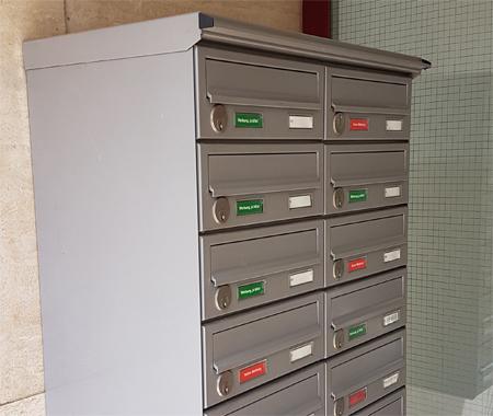 Postkasten ohne Etiketenresten
